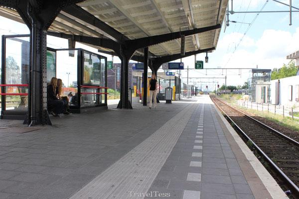 Met de trein naar huis