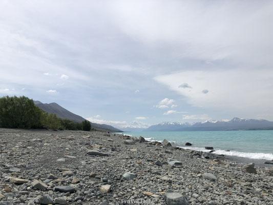 Lake Pukaki met Mount Cook op de achtergrond