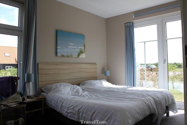 Slaapkamer Landal huisje Nieuwvliet-Bad