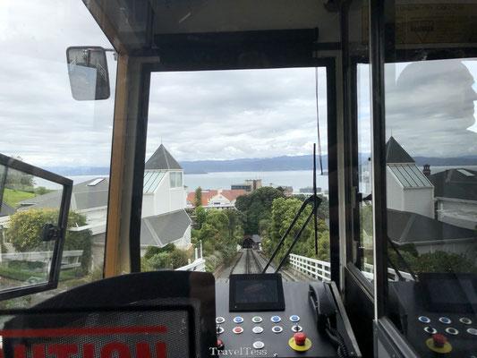 Ritje maken met de Wellington Cable Car