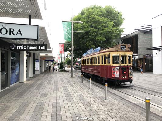 Oude tram in Christchurch