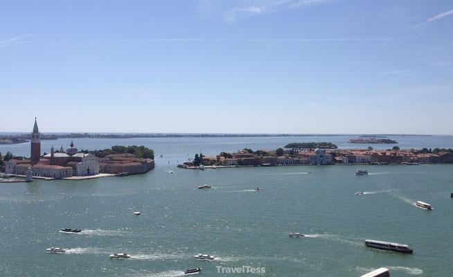 Uitzicht vanaf uitkijktoren Venetië