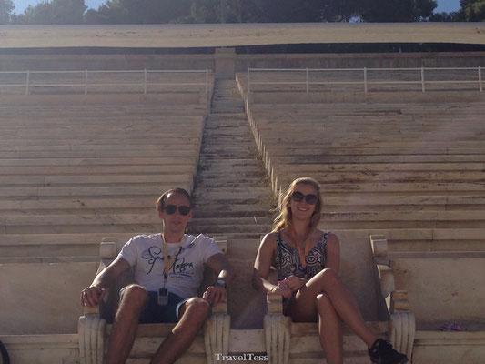 Bezoek aan Oude Olympisch Stadion Athene