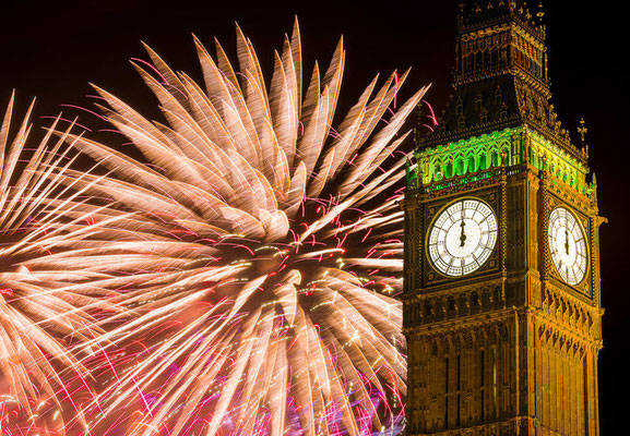 Vuurwerkshow Londen