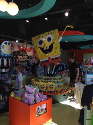 Spongebob shop in Moviepark Germany