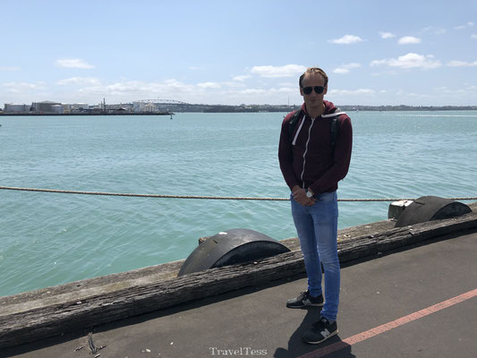 De haven van Auckland