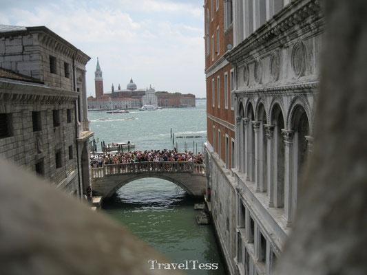 Uitzicht uit gevangenis Venetië