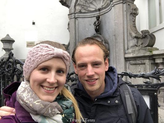 Selfie bij Manneke Pis