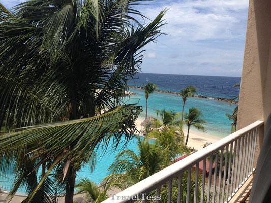 Uitzicht hotelkamer Curaçao