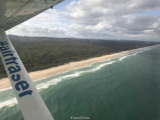 Recreatievlucht boven Fraser Island