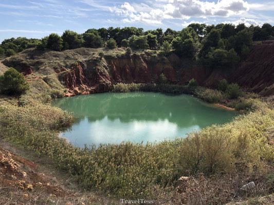 Kleurrijk meer nabij Otranto
