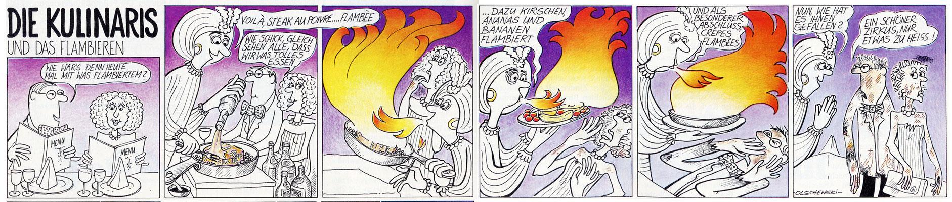 Die Kulinaris und das Flambieren