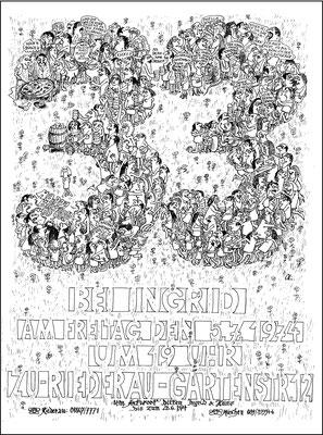 Sommerfest bei Ingrid, 1974