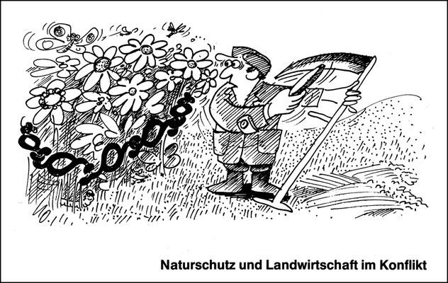 Nuturschutz und Landwirtschaft im Konflikt