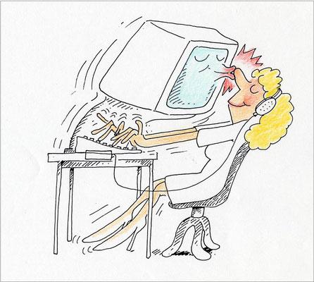 Persönlicher Computerkontakt