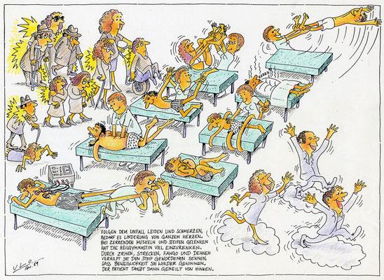 Gymnastik und Massage