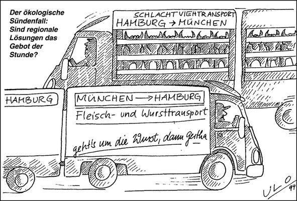 Transport von Lebensmittel: Lange Wege