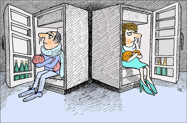 Abkühlung der Beziehung