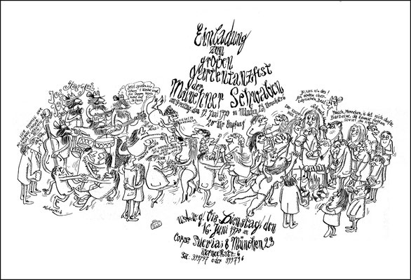 """Studenten-Sommerfest der """"Münchner Schwaben"""", 1970"""