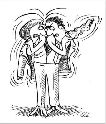 Wer hat in der Ehe die Hosen an