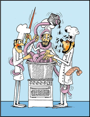 Tintenfisch kochen