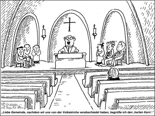 leerer Gottesdienst, land aktuell