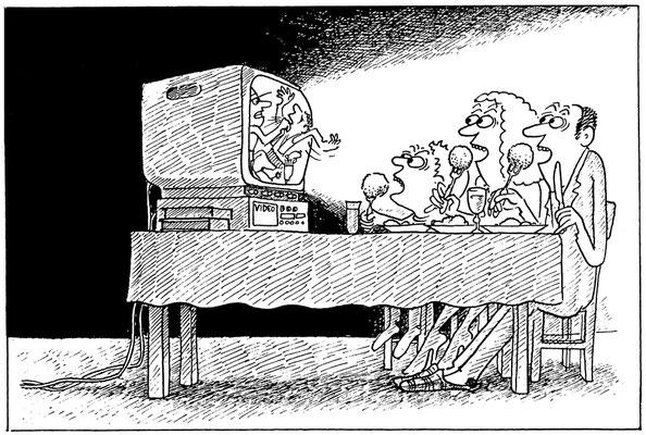 Fernsehen und Essen