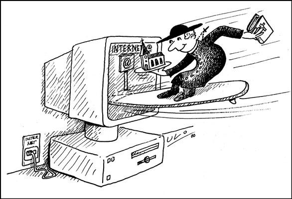 Priester und Internet, Land aktuell