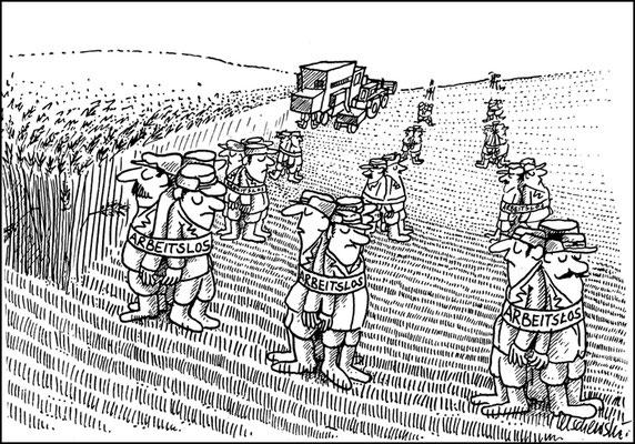 Arbeitslos in der Landwirtschaft, Land aktuell
