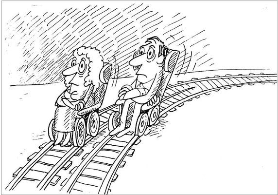 Auf verschiedenen Gleisen in  das Alter reisen