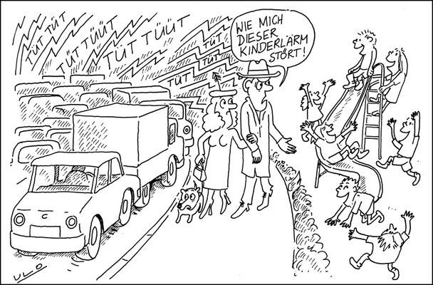 Straßenlärm versus Kinderspaß