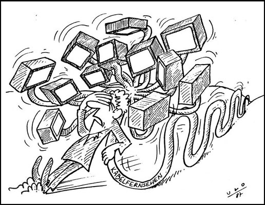 Überfluss der Fernsehprogramme