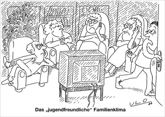 Fernsehen bestimmt das Familienklima