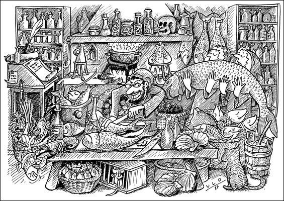 Fischküche im Mittelalter