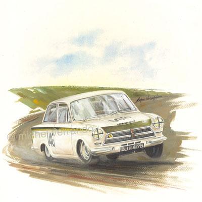Jim Clark Ford Cortina 1964 (30x40cm)