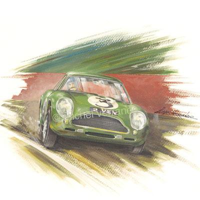 Jim Clark Aston Martin DB4GT Zagato (30x40cm)