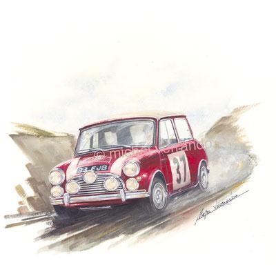 Paddy Hopkirk Monte-Carlo 1964 (30x40cm)