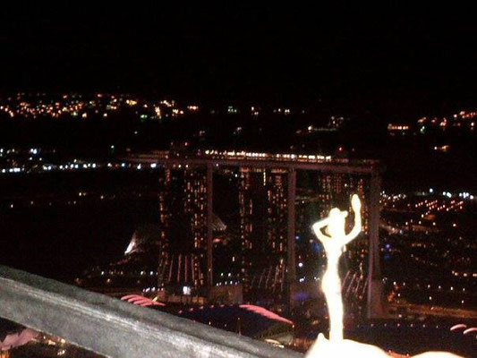 Esperanza über den Dächern von Singapore