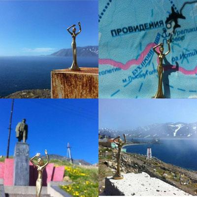 Esperanza in Providenja, der letzten größeren Stadt vor Alaska. PROVIDENJA kommt übrigens vom englischen Namen für HOFFNUNG!