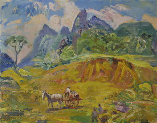 Brasilianische Landschaft mit Karren (um 1950)