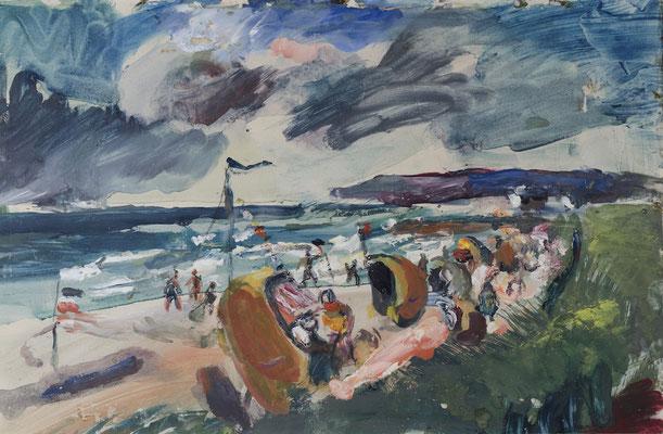 Badestrand an der Ostsee bei Albeck (1929-1931)