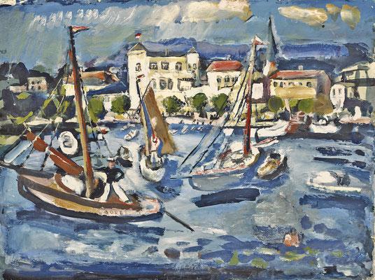 Segelboote im Hafen (1929-1931)
