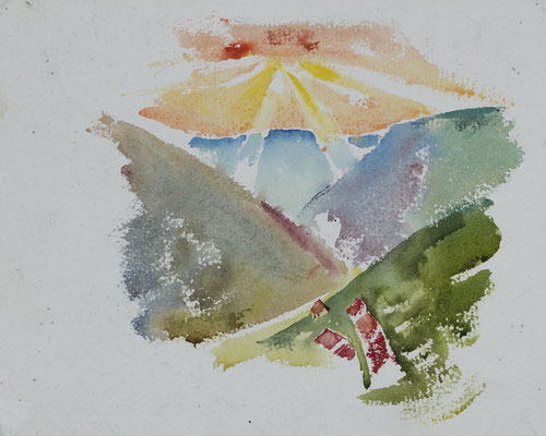 Alblandschaft mit Sonne (1920)