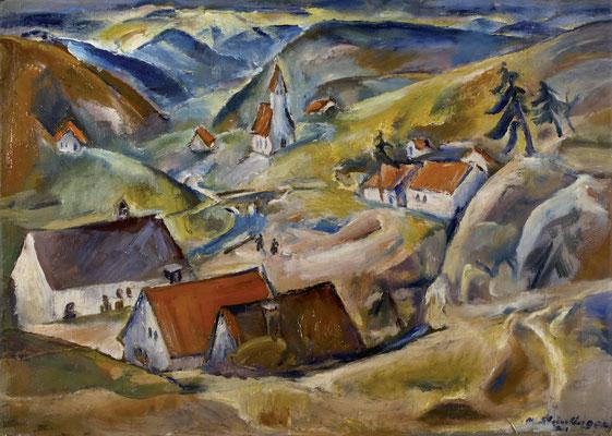 Seeburg mit Kirche (1921)