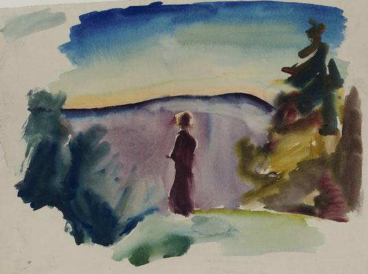 Frau in Landschaft (1920-1921)