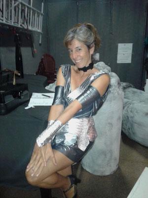 Adriana Aguilar, en el paper de la cortesana Partenis
