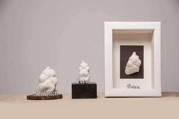 Natürlich sind weitere Gestaltungsarten möglich, z.B. auf Granit-Sockel.