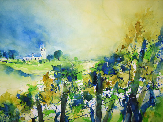 """Weinetikette  2010 - """"Hallauer Saint Maurice"""""""