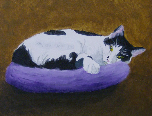 Cat in Bed, by Cynthia