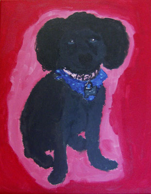 Black Poodle, by Marissa
